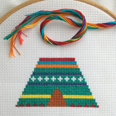 HannahHandMakes progress with cross stitch kit
