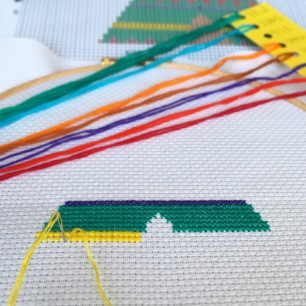 HannahHandMakes starting cross stitch kit
