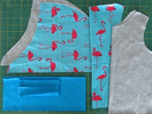 Hot Chocolate fabric pieces