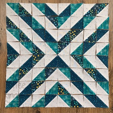 large half square triangle cross block