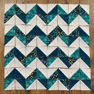 large half square triangle chevron block
