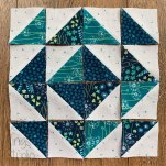 small half square triangle block
