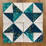 half square triangle star block
