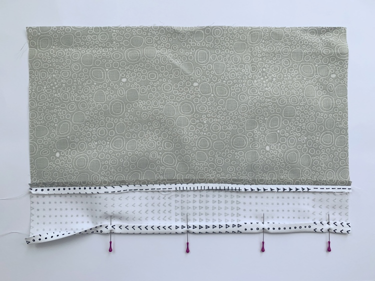 adding hemming contrast strip ton envelope back cushion