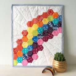 Hexagon Waterfall in rainbow colours